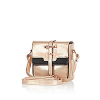 Girls gold crossbody bag