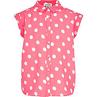 Girls pink spot shirt