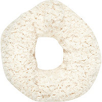 Girls cream fluffy snood