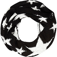 Girls black star snood
