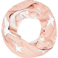 Girls pink star snood