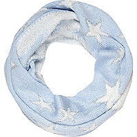 Girls blue star snood