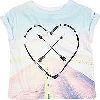 Mini girls pink road trip t-shirt