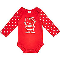 Mini girls red Hello Kitty bodysuit