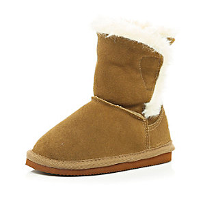 Mini brown faux fur boot