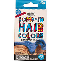 Girls blue comb-in hair colour
