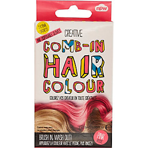 Girls pink comb-in hair color