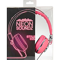 Girls pink soundz headphone