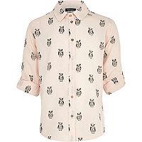 Girls pink owl shirt
