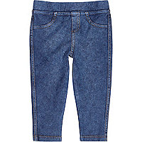 Mini girls denim look leggings