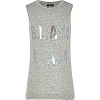 Girls grey glam I am vest