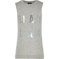Girls grey glam I am vest