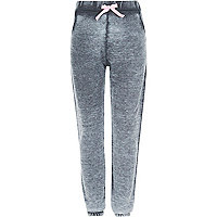 Girls grey burnout joggers