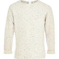 Girls white lurex jumper