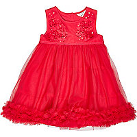 Mini girls red prom dress