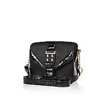 Girls black boxy bag