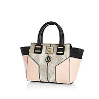 Girls pink winged tote bag