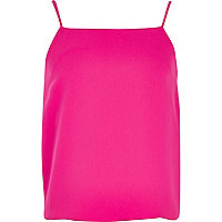 Girls bright pink cami vest