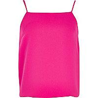 Girls bright pink cami vest