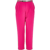 Girls pink smart trousers
