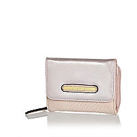 Girls pink metallic purse