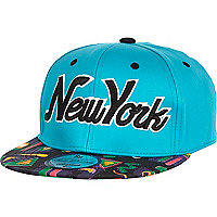 Girls aqua New York aztec snapback hat