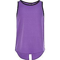 Girls purple split back vest