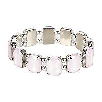 Girls silver tone gem bracelet