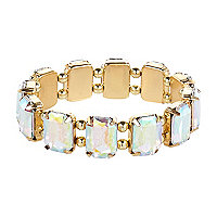 Girls gold tone gem bracelet