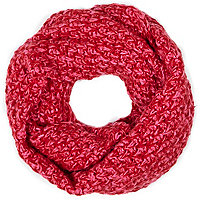 Girls red knitted snood
