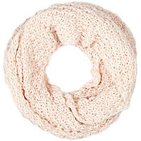 Girls pink knitted snood