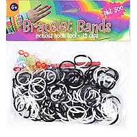 Girls black bracelet bands kit