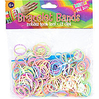 Girls pink bracelet bands kit