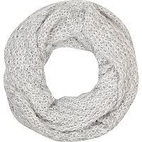 Girls grey knitted snood