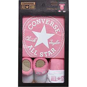 Mini girls light pink Converse gift set