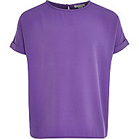 Girls purple oversized top