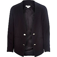 Girls black tuxe blazer