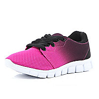 Girls pink fade out trainer