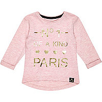 Mini girls pink no.1 paris t-shirt