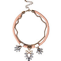 Girls pink statement necklace