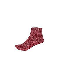 Girls pink hiking socks