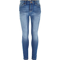 Girls blue medium wash jeans