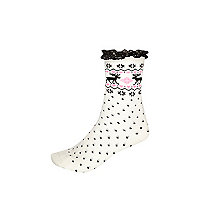 Girls pink fairisle frilly socks