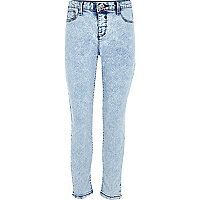 Girl light blue acid wash Molly jeggings