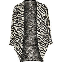 Girls zebra print cardigan