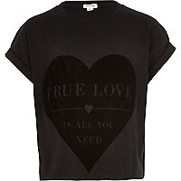 Girls black true love t-shirt