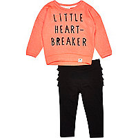 Mini girls coral little heart breaker set