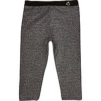 Mini girls silver sparkle leggings