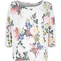 Girls white floral top