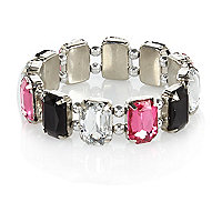 Girls multi colour rhinestone bracelet